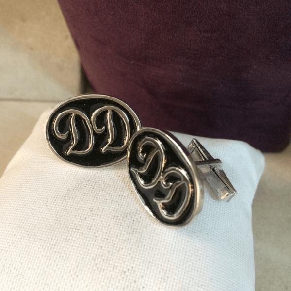 925 Ayar Gümüş Mineli Kol Düğmesi