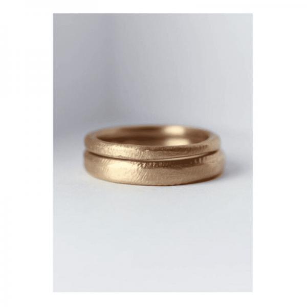 14 Ayar Altın Dövme Mat Alyans 2mm